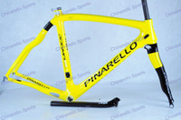 Wholesale yellow K T1000 pinarello dogma think2 carbon road frame bike frameset fork seatpost headset clamp BB30 BB68 BSA fit sram red EPS