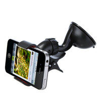 Wholesale Universal Windshield Degree Rotating Car Mount Bracket Holder Stand for iPhone For Samusung Galaxy For HTC GPS MP4 PDA tablet