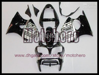 Wholesale 7gifts Pre drilled gloss black silver fairings for Ninja ZX6R ZX R ZX R fairing kit s373