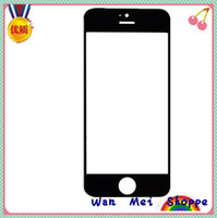 For Apple iPhone Capacitive Screen iPhone 5 Replacement Front Screen Cover Glass Lens For iphone 5 5G Black