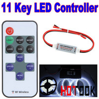 Wholesale Mini RF LED Controller Single Color With Wireless Remote Control Mini Dimmer for Led Strip Lights Tiras CE RoHS