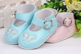 Wholesale Baby prewalker Strongly recommended Butterfly baby toddler shoes buckle strap TJ X0111