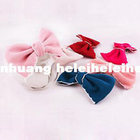 Wholesale Korean jewelry fabric bow hair white hair jewelry hairpin lace edge