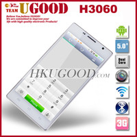 Wholesale New Cheap Android Phone H3060 Dual Core Mobile phone MTK6517 CPU Inch IPS QHD Screen Dual Camera Wifi the cell phone