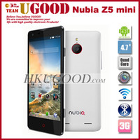 Wholesale Original ZTE Nubia Z5 Mini Qualcomm CPU Ghz Quad Core Android phone quot Sharp CGS HD Screen Yamaha Music Chip Mp Lens