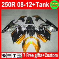 Wholesale 7gifts Tank For gold black R Kawasaki Q225 Ninja ZX250 golden ZX250R ZX Fairing