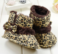 Wholesale Factory Outlet Classic leopard snow boots Tall toddler shoes Thick warm boots Casual cotton boots baby wear shoes online pair CL