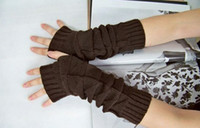 Wholesale New Arrival Fashion Long Knit Wrist Fingerless Women Gloves Triangle Partern Modified Arm Length Gloves Fashion Accessories pairs