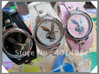 Wholesale Playboy Watch Play Boy Girls Women s Fashion PU Quartz Wrist Watches