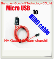 Wholesale Super quality new in jan For Samsung Galaxy S4 S3 Note Note FT P Micro USB MHL to HDMI Cable adapter HDTV length m churchill