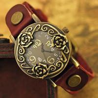 Wholesale discount unique beautiful design women s ladies fashion wrist quartz watches vintage style leather band