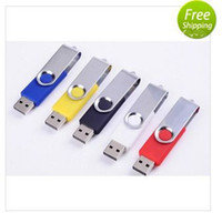 Wholesale 100pcs NEW High quality upgrade Swivel Rotating Pen Drive USB Flash Driver Memory Stick Pendrive GB GB GB GB