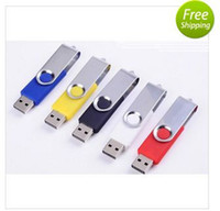 Wholesale 100PS NEW High quality upgrade Swivel Rotating Pen Drive USB Flash Driver Memory Stick Pendrive GB GB GB GB