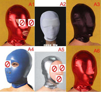 Masks Unisex  Gel nose mouth eye glue mask,Headgear Mask Hoods Bondage Gear SM