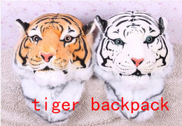 Wholesale 2014 new Cool HUGE Luxury Tiger Head Lion White Tiger Head style Bag Knapsack Backpack