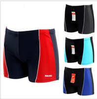 Wholesale sun store Colored Patchwork Sport Beach Brief Swimming Trunks For Men Sexy New Swimwear
