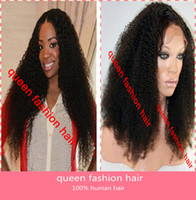 Wholesale Sexy hair afro kinky curly front lace wig glueless full lace wig lace front wig indian remy lace wigs
