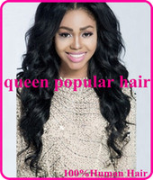 Wholesale fashion wavy Front Lace Wig glueless Full lace wig Brazilian Human Hair Natural hairline for black women