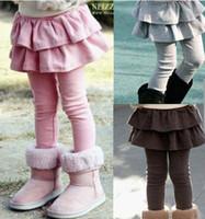 Wholesale Children s Leggings Baby Leggings girls cute joker small skirt render pants conjoined twins skirts pant Leggings Children s clothing