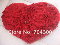 Wholesale Chenille Pad Fluffy Bedroom Rug Carpet Floor Bath Mat Love Heart Doormat X59cm