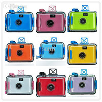 Wholesale Newest Film Diving camera Waterproof mm Camera Underwater Camera LOMO camera multi color