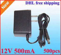 AC DC 12V Power adapter 12V 500mA switching power supply Charger adaptor 500pcs Lot -EU Europe plug Free shipping