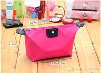 Wholesale Popular Makeup Bag Cosmetic Bags Fashion nylon Fabric Colorful Cosmetic Bag mix