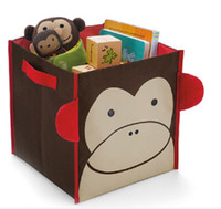 Wholesale 2014 BEE Storage Box for toy Animal Storage Bins Ladybug Storage Organizar Monkey Storage Bags Books Boxes D225