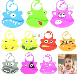 Wholesale Silicone baby bibs Infant Feeding Baby Kid Bib Fun Characters Waterproof cartoon image