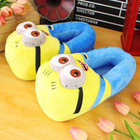 plush slippers - Despicable Me Minions Plush Stuffed Slippers Cuddly Fluffy Collectible Jorge Dave Stewart quot inch