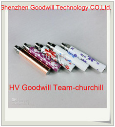 Wholesale Printing Battery Blue amp White Porcelain for eGo Electronic Cigarette mAh Battery for CE4 CE5 CE6 e cig Good Price churchill