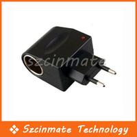 Wholesale V V AC to V DC EU Car Power Adapter Converter
