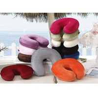 Wholesale New Neck U shaped Memory Foam Pillow Pillows Cushion Man Woman Comfortable Office Nap Healthy Pillows Good Gift Many Colors Choose