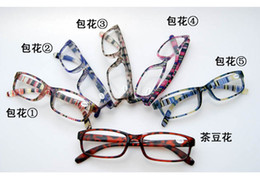 Wholesale EMS New Plastic Reading Glasses With Pattern Frame Optical Multicolour Frame For Old People Mixed Colors
