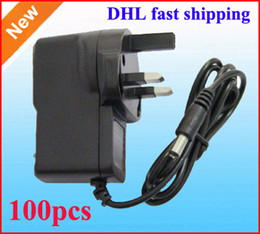 AC 100V 240V Converter Wall Adapter DC 12V 9V 5V 1A 2A Power Supply adaptor 100pcs UK GB Plug DHL Fast shipping