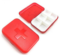 Wholesale Convenient to carry kit cross six grid dispensing small medicine chest