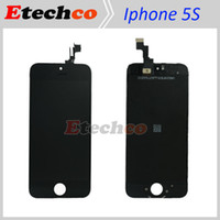 For Apple iPhone 5s   original lcd display lcd screen For Apple iPhone 5S LCD display assembly with Touch Digitizer replacement black white DHL free