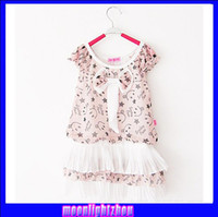 90 100 110 120 90 100 110 120  girl dress baby clothing clothing set baby dress Children's chest nail bow Puff Chiffon Dress 1246053413 hgg c
