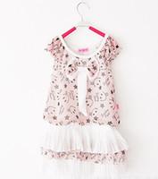 Summer A-Line Knee-Length girl dress baby clothing clothing set baby dress Children's chest nail bow Puff Chiffon Dress 1246053413 hgg c