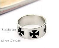 Wholesale Classical Fashion Brand The Cross PatternTitanium Stainless Steel Rings Enchanted Band Rings High Quality