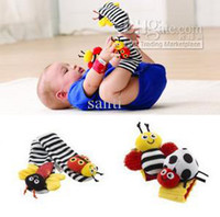baby toddler toys - Lamaze wrist rattle foot finder baby toy wrist rattle foot sock toddler Infant Plush toys