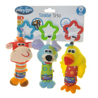 Wholesale Playgro Tinkle Trio Toys for Babys pushchair Plush Toy Rattle New with Tag