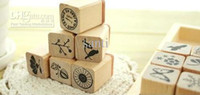 Wholesale Funnyman series wooden stamp gift set