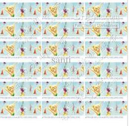 Wholesale 100yards MM Flower Faerie grosgrain ribbon hairbows printed ribbon freeshipping