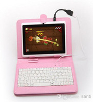 Wholesale Fashion Hot Multi Color Inch PU Leather USB Keyboard For Q88 Tablet PC MID