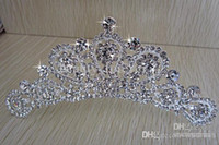 Tiaras&Crowns Silk Flower  Wedding Bridal Accessories Crystal Veil Tiara Crown Headband Bridal Diamond Hair Comb