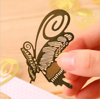 Wholesale Fashion vintage exquisite plant cutout blade metal bookmark metal openwork bookmark