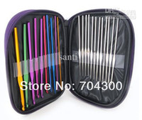 aluminum knitting needles - HOT Stitches Knitting Craft Case Aluminum Crochet Hooks Needles Knit Weave