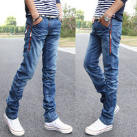 Wholesale Fashion Men s Casual Jeans Straight Trousers Zipper jeans Men s jeans