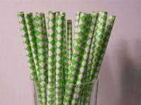 Wholesale striped star chevron Polka Dot heart paper straw baby birthday wedding party Style Vintage